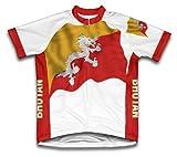 Bhutan Flag Radsport Trikot mit kurzer Ärmel für Menner -