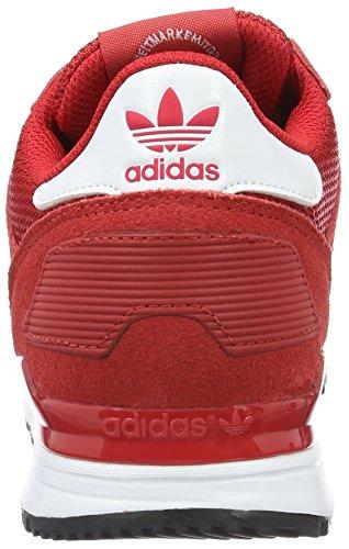 adidas Zx 700, Chaussures de Sport Garçon Rouge (Scarlet/ftwr White/core Black)