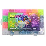 4200 Loopy Loom Band Set Box Rubber band Bracelet Making Kit Colourful with storage case by Bopster Europe Ltd