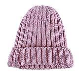 Kingus Winter Warm Elastic Chenille Beanie Hat Stretch Geflochtene Kabelhüte Outdoor Cap für Männer Frauen, Pulver