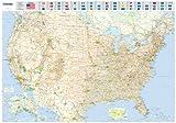 Michelin Karte USA, Planokarte, plastifiziert (Maps/Wall (Michelin)) - Michelin Travel Publications