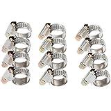 Rovtop 12 Stück Schlauchschellen Set Spannbereich 10 - 16 mm Bandbreite 9 mm
