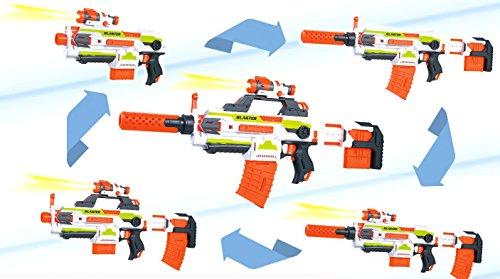 Brigamo SB206 – Modulus Flame War Blaster, 4in1 Dartblaster mit taktischem Licht und Akku, Spielzeugblaster inkl. 30 Schuss Munition gratis! - 2