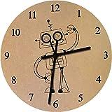 Azeeda 275mm 'Glücklicher Roboter' Große MDF-Uhr (CK00013843)