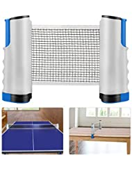 Weeygo Ping Pong Net, Retractable Table Tennis Nets Replacement Adjustable Any Table Portable Travel Holder Indoor Outdoor Sports Accessories with Bracket Clamps