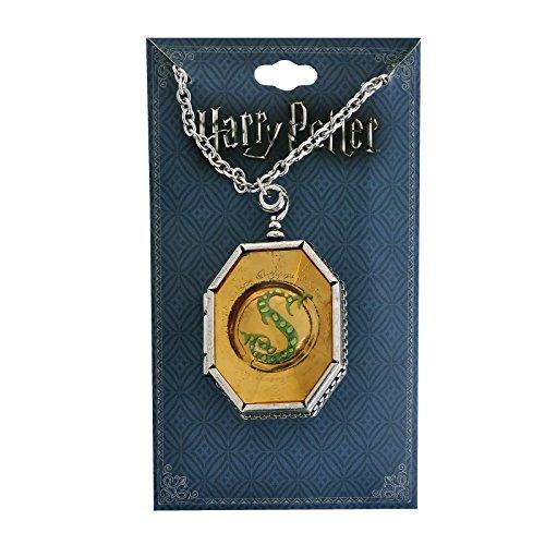 Harry Potter Kette Slytherin Medaillon Horkrux Anhänger 56-64cm Schmuck (Express Damen Schmuck)