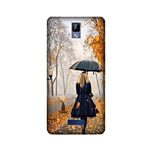 Yashas High Quality Designer Printed Case & Cover for Gionee P7 (Girls in Rain)