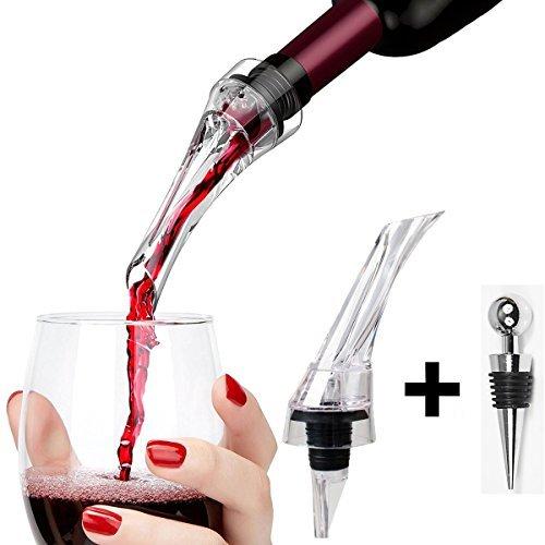 Para botella de vino aireador decantador vertedor con tapón Bar Accesorios Vino...