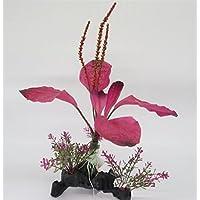 Komener Aquarium Ornament Árbol de Hierba del Acuario adorna la Planta para la decoración del Paisaje de la Selva Tropical del Tanque de Pescados