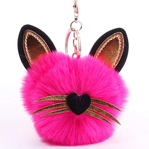 ou lida Lange bart Katze Haar Ball plüsch schlüsselanhänger Handtasche anhänger schlüsseltasche schmuck 22 (Bart Der Katze)