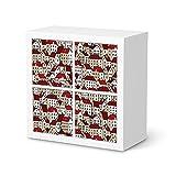 Möbel-Aufkleber Folie für IKEA Kallax Regal 4 Türelemente | Dekorfolie Deko Möbel-Folie | Einrichtung verschönern Dekomaterial | Design Motiv City By Day