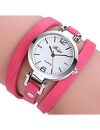Zolimx Moda Diamante Círculo Reloj Estudiante Pulsera