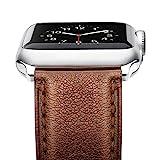Benuo Apple Watch Armband 42mm Verstellbare Länge aus Retro Echtes Leder und Edelstahl für...