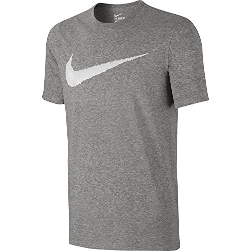 Nike–Pantaloni sportivi m Nsw, Hangtag Swoosh tee Dark Grey Heather/White