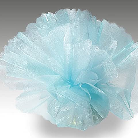 Organza Tulle Circles Crystal Pack of 50 Standard Light Blue