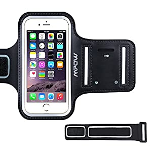 Sportarmband Hülle, Mpow Schweißfest Armtasche Hülle Oberarmtasche mit Schlüsselhalter, Verlängerungsband und Reflekltierendes Band für iPhone 7/6/6S,HTC ONE/M7,iPhone 5/5S/SE bis 4.7 Inch
