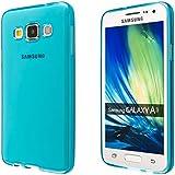 ECENCE Samsung Galaxy A3 A300FU Protective TPU funda de silicona de gel cover case azul 42030502