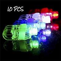 Light Up Finger Rings Toys,BaojunHT® 10Pack LED Rubber Rings For Party Favors Jelly Bubble Children Toys(random)