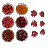 #8: eshoppee 8/0 glass Seed beads for jewellery making, art & craft diy kit Set of 6 Colors , 20Gm X 6 colors