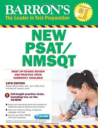 Barron's NEW PSAT/NMSQT with CD-ROM, 18th Edition (Barron's PSAT/NMSQT (W/CD)) by Ira K. Wolf Ph. D. (2016-08-01)