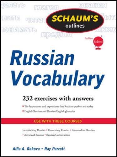 Schaum's Outline of Russian Vocabulary (Schaums' Outline Series)