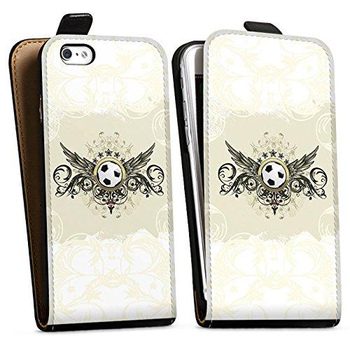Apple iPhone 6 Plus Silikon Hülle Case Schutzhülle fussball fußball sport Downflip Tasche schwarz