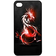 Coque Iphone 4/4S - Dragon chinois rouge eclatant - Ref 168