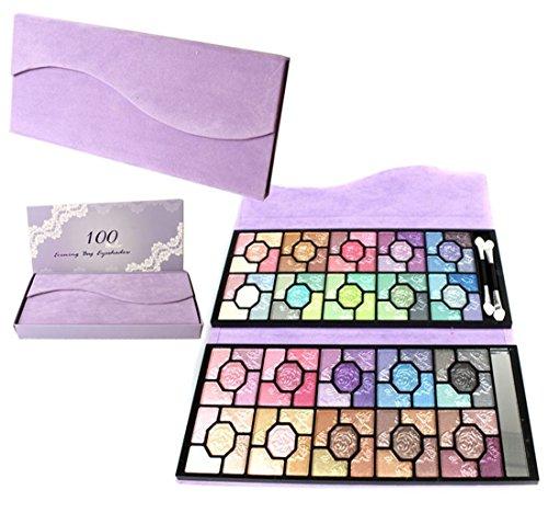 Pure Vie® 100 Couleurs Fard à Paupières Palette de Maquillage Cosmétique Set - Convient Parfaitement pour une Utilisation Professionnelle ou à la Maisons