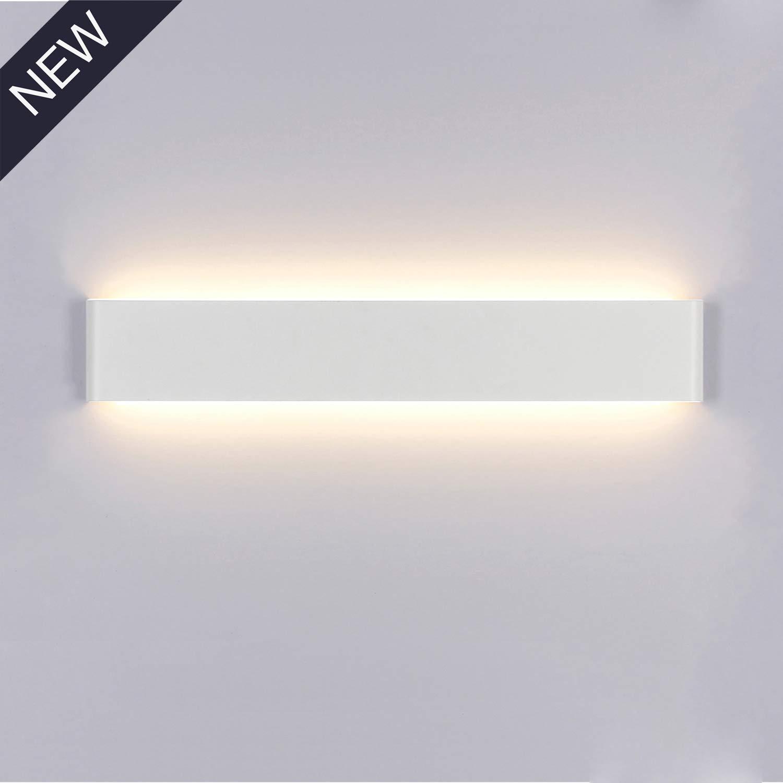 Applique da Parete Interno Moderno Bianco Caldo LED Lampada da Parete 16W  1200LM Perfetto per Camera da Letto Soggiorno Corridoio Bagno Scale 40CM -  ...