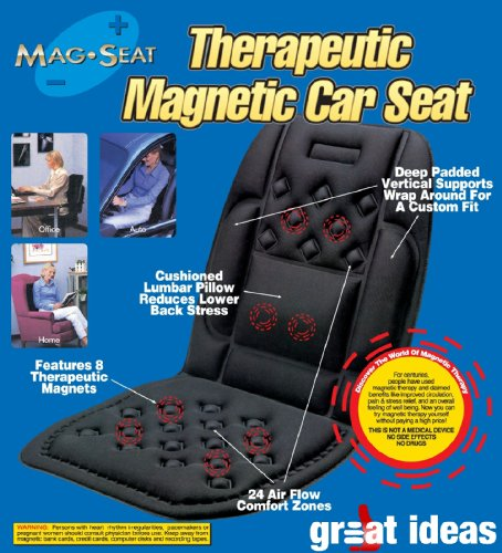 Medipaq® Car Seat SUPPORT Cushion – 24 Air-Flow Pockets – 8 Magnets + BACK and SIDE Supports!