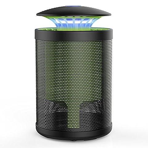 wysm Lampe anti-moustique 15 * 15 * 25cm maison sans rayonnement muette artifact chambre anti-moustique piège électronique forte bougie d'aspiration moustique ( Couleur : Noir )