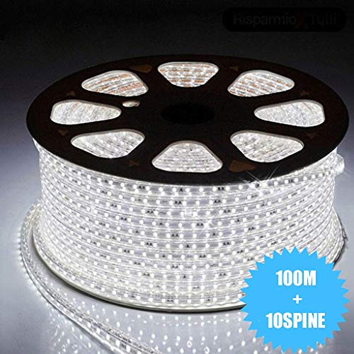 miglior 081 Store - STRISCIA LED 220V BIANCO 100 METRI STR