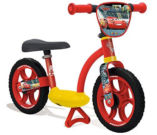 Smoby Toys - 770117 - Cars 3, Draisienne Confort Enfant avec Roues Silencieuses, Siège Réglable, Béquille Intégrée
