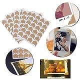 OULII 5pcs Kraft papel autoadhesivo foto álbum Protector adhesivo bricolaje álbumes artesanales suministros (amarillo)