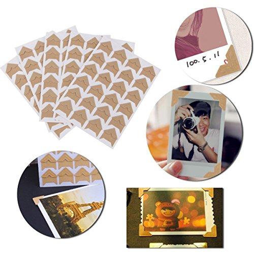 OULII 5pcs Kraft papel autoadhesivo foto álbum Protector