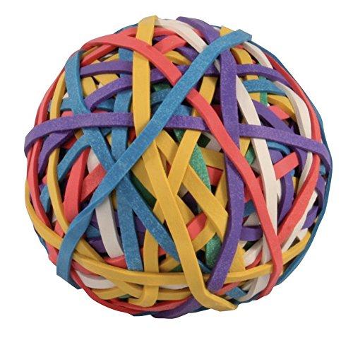 Staples Gummibänder-ball mit 150 Gummiringen in verschiedenen Farben, 100g
