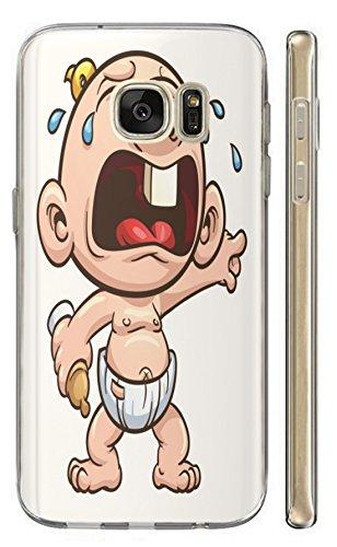 Hülle für Samsung Galaxy J7 2016 Hülle Softcase TPU Handyhülle für Samsung J7 2016 Cover Backkover Schutzhülle Slim Case (466 Baby Cartoon mit Windel)