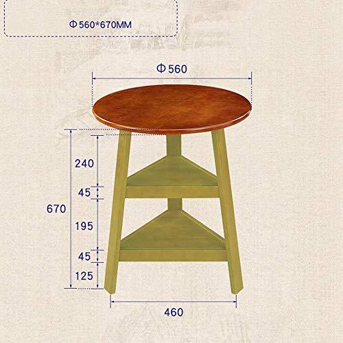Nussbaum Eck-regal (Jazi Regale Regale Runder Tisch aus massivem Holz Einfacher runder Couchtisch Neben Eck-Couchtisch 56 * 67 cm Racks,Nussbaum)