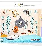 LangToo Cartoon Schlafzimmer Dekor wand Aufkleber für die Unterwasserwelt schönes Bad Fliesen- Poster