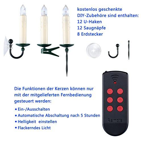 Yorbay L14a +, velas de Navidad, tamaño: L, plástico, blanco, 32.8x 28.6x 5cm