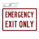 bienternary Emergency Exit Only Aluminium-Schild