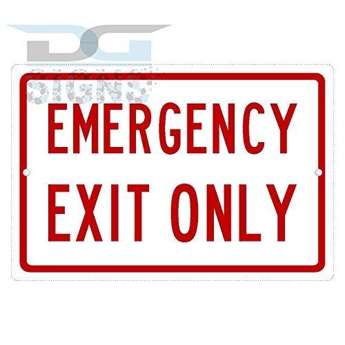 bienternary Emergency Exit Only Aluminium-Schild, Metallschilder, Vintage-Straßenschilder, Blechschilder, dekoratives Schild