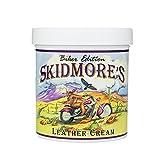 Skidmore's Crème pour Cuir Édition Motard | Formule Entièrement Naturelle Non Toxique est un Baume d'Entretien et de Nettoyage - Protège votre cuir de moto | Fabriqué aux États-Unis