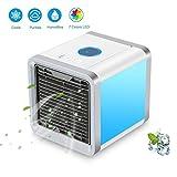 Persönlicher Raum Luftkühler-Portable 3 In 1 Mini-Klimaanlage Ventilator, Befeuchter & Reiniger Mit 7 Farben LED-Leuch