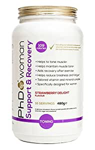 PhD Woman Exercise Support, Strawberry Delight, 480g