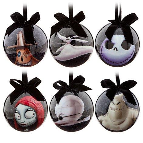 Disney Tim Burton 's 2014The Nightmare Before Christmas Mittelmeer Ornament Set ~ Jack Skellington, Sally, Dr. finkelsteinth, Zero, Oogie Boogie und Mayor ~ 6-Pc.