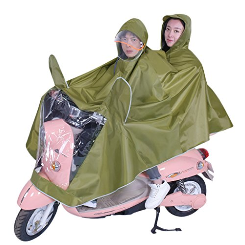 LT Electric Car Raincoat Double Battery Car Poncho With Mask Unisex