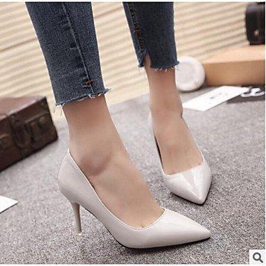 Shoeshaoge PU Noir Spring blanc femme talons pour pour Confort Chaussures décontracté blanc ArwAtO1q