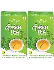 Neuherbs Green Tea for Weight Management, Lemon (50 Tea Bags)