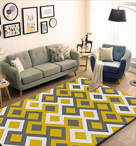 LILY Nordic 3d gedruckt rechteckigen Teppich, Wohnzimmer Schlafzimmer Studie Teppich, gepolsterte Verschlüsselung, waschbar ( Color : B , Größe : 120*160cm )